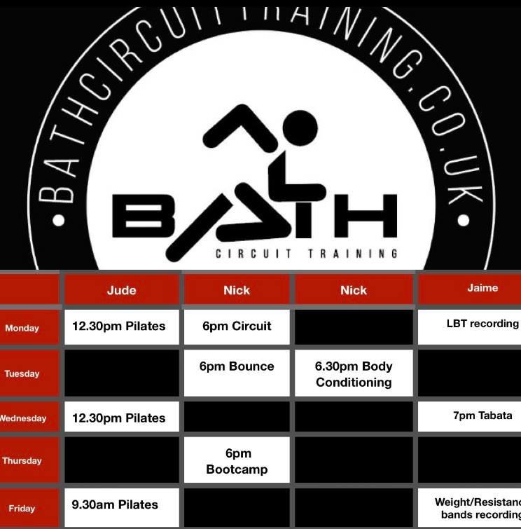Bath circuti trainings online class schedule